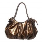 Patent Gold Bronze Hobo Tote Handbag Purse Fashion Bag