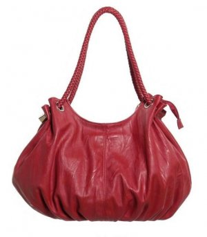 Large Dark Red Hobo Tote Handbag Purse Fashion Bag