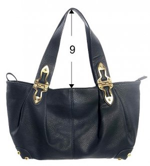 Black Hinge Bucket Hobo Tote Handbag Purse Fashion Bag