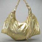 Metallic Gold Melie Bianco Bat Handbag Purse Hobo Bag