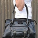 Black Vintage European Tote Handbag Purse Fashion Bag
