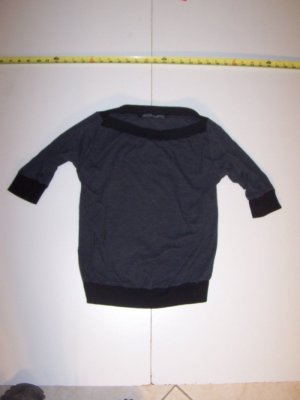 New Gray / Black  Size Mediom T - Shirt By CHARLOTTE