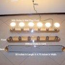 NEW 6 Bulb Bathroom Wall Light Fixture Chrome Silver