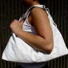 White Horsebit Hobo Handbag Tote Purse Shoulder Bag