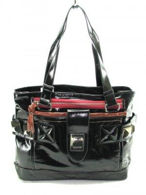 Large Patent Black Hobo Tote Handbag Purse Fashion Bag