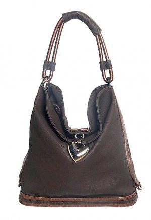 Brown Bronze Bucket Hobo Tote Handbag Purse Fashion Bag
