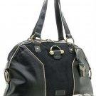 Black Suede Dome Muse Bowler Handbag Purse Hobo Bag