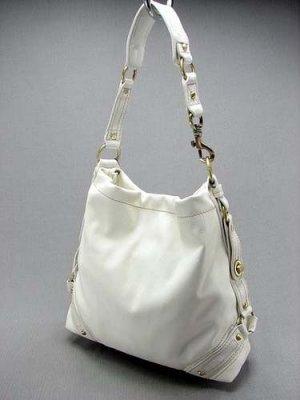 Solid White Clasp Legacy Tote Handbag Purse Fashion Bag