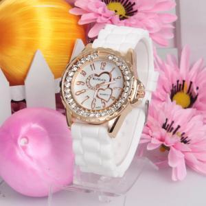 Silicone Jelly Gel Quartz Analog Sports new Watch #424 Free shipping