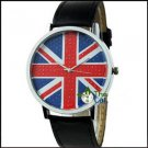 Fashion  Leather UK National Flag new Watch #404 Free shipping