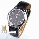 NEW Leather Quartz Ladies Fashion WristWatch new Black #226 Free shipping