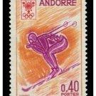 Andorra france 181 MNH Grenoble Olympic Skier