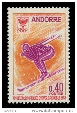 Andorra france 181 MNH Grenoble Olympic Skier