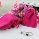 ALI66 100pcs/Lot Pink Retail Jewelry Velvet Gift Pouches Free shipping