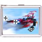 H5S483 Cigarette Case with lighter Nazi Aircraft Picture Free shipping