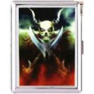 H5S132 Cigarette Case with lighter Skull Dragon Picture Free shipping