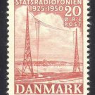 DENMARK 317 mnh 1950 RADIO BROADCASTING