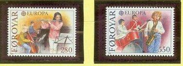FAROE EUROPA 1985 mnh