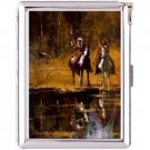 H5S434 Cigarette Case with lighter American Native Picture Free shipping
