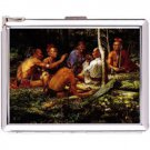 H5S425 Cigarette Case with lighter American Native Picture Free shipping