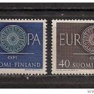 Finland Europa 1960 mnh Scott 376-7