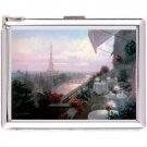 H5S398 Cigarette Case with lighter Paris France Picture free shipping