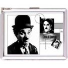 H5S128 Cigarette Case with lighter Charlie Chaplin Picture Free shipping