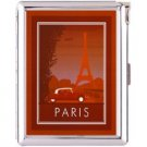 H5S404 Cigarette Case with lighter Paris France Picture Free shipping