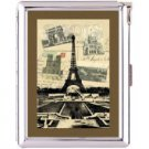 H5S407 Cigarette Case with lighter Paris France Picture Free shipping
