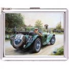 H5S647 Cigarette Case with lighter Racing Vintage Pic Free shipping