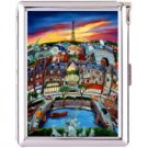 H5S416 Cigarette Case with lighter Paris France Picture Free shipping