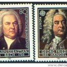 Germany 1440-1 Europa mnh MUSIC YEAR Handel / Bach