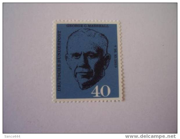 GERMANY 821 mnh George C. Marshall
