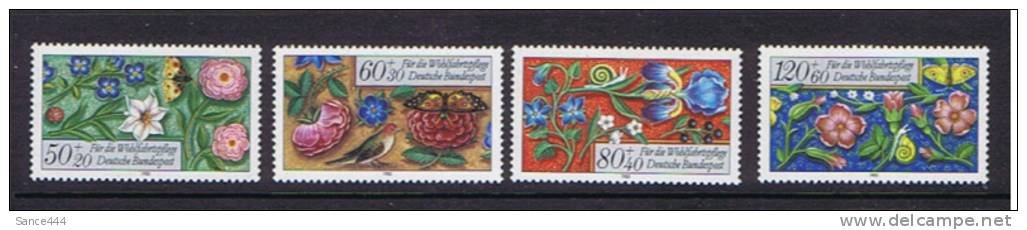 Germany B636-9 mnh 1985 Relief Funds medieval prayer book