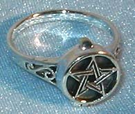 Ring: Pentagram Poison sterling