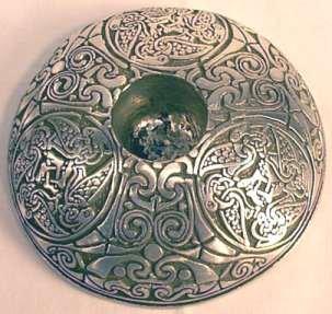 "Celtic Animals Taper Holder, pewter (3 3/8"" dia):CHANI"