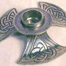Celtic Knot Taper Holder, pewter:CHCEL