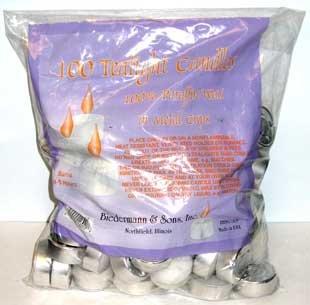 Tea Lights Candles Bulk 100/bag