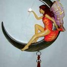 Fairy: Hanging Moon W Crystal