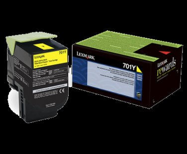 Lexmark 701Y Yellow Return Program Toner Cartridge Laser Toner/Print Cartridge
