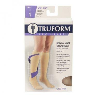Truform 8865, Compression Stockings, Below Knee, Closed Toe, 20-30 mmhg, Beige, X-Large