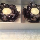 8 Lotus Votive Candle Holder Black Pearlized decorate/wedding Tealight