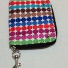 FRANCO SARTO Zipper WALLET w/Lever Attachment~MULTI-Color~Nylon/Polyester
