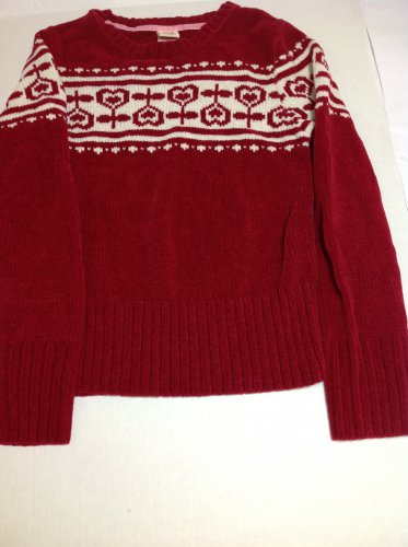 Faded Glory Girls Red Sweater 10/12/L