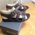 Ecco Women's Touch Buckle Sandals Euro size 35, US 4-4.5, Coffee NIB
