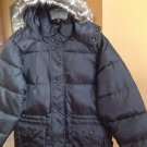 "Perry Ellis Men's 33"" Wellon Filled Winter Parka, Sz L/Large, Black, WARM. NWT"