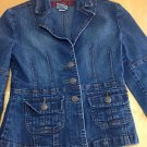 YMI Girls Denim Jacket Blue Size M