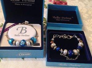 2 Sets Bella Pearlina Charm and Bead Bracelets
