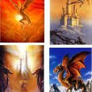 Lot Of 12 Only Dragon Fabric Panel Quilt Squares