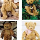 Lot Of 12 Teddy Bear Fabric Panel Quilt Squares